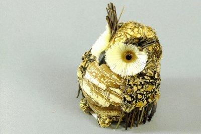 Астрапак: Декоративная фигурка Сова (пенопласт, трава)